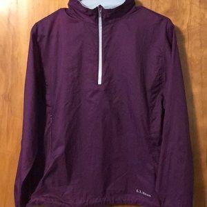 Women's LL bean 1/4 zip rain jacket